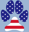 USA Flag Dog Paw by Revealing Paws