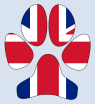 UK Flag Dog Paw by Revealing Paws
